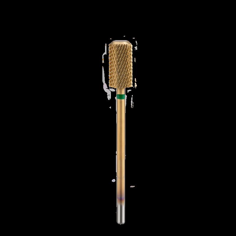 Titan-Karbid csiszolófej, Hengeres, lekerekített perem, Durva