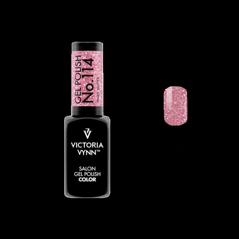 Gel Polish 114 Pinky Glitter 8 ml